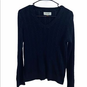 Sonoma Cable Knit Sweater Navy Blue Size M